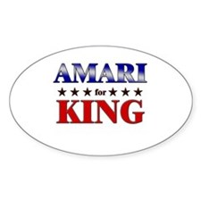 AMARI for king Oval Decal