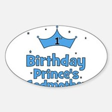 1st Birthday Prince's Godmoth Oval Decal