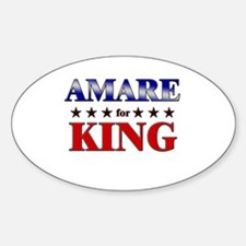 AMARE for king Oval Decal