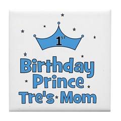 CUSTOM - 1st Birthday Prince Tile Coaster