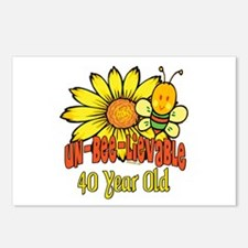 Un-Bee-Lievable 40th Postcards (Package of 8)