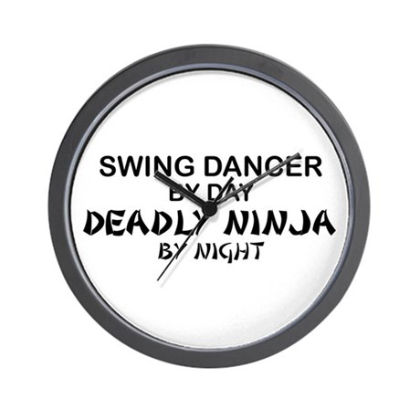Swing Dancer Deadly Ninja Wall Clock
