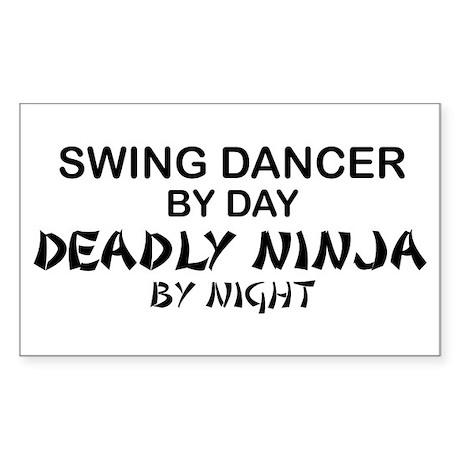 Swing Dancer Deadly Ninja Rectangle Sticker