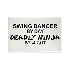 Swing Dancer Deadly Ninja Rectangle Magnet