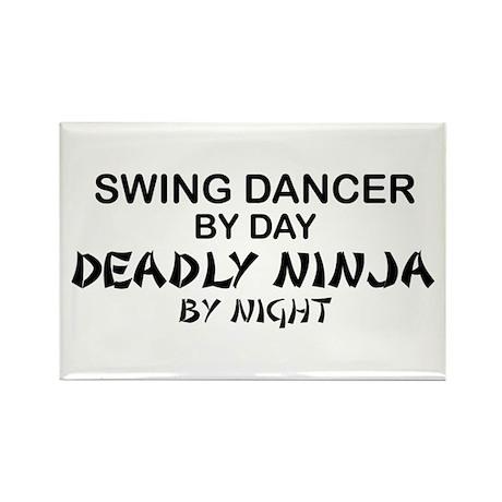 Swing Dancer Deadly Ninja Rectangle Magnet
