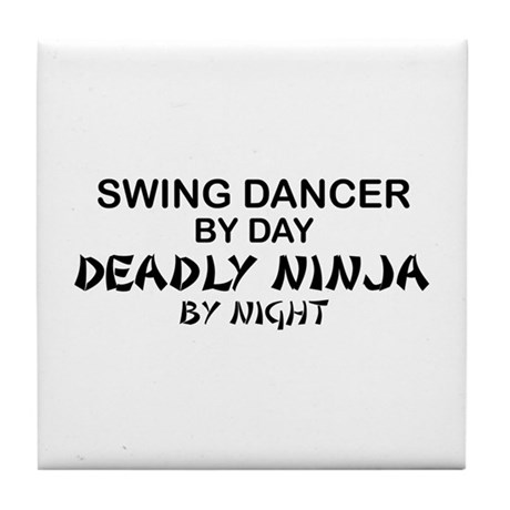 Swing Dancer Deadly Ninja Tile Coaster