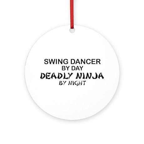 Swing Dancer Deadly Ninja Ornament (Round)