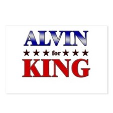 ALVIN for king Postcards (Package of 8)