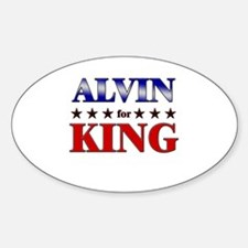 ALVIN for king Oval Decal