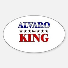 ALVARO for king Oval Decal