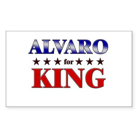 ALVARO for king Rectangle Sticker