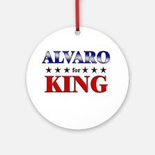ALVARO for king Ornament (Round)
