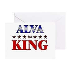 ALVA for king Greeting Card