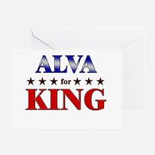 ALVA for king Greeting Card