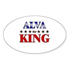 ALVA for king Oval Decal