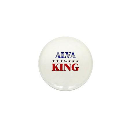 ALVA for king Mini Button
