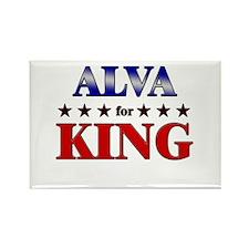 ALVA for king Rectangle Magnet