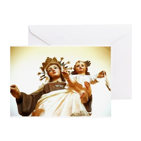 Ceramic Madonna Greeting Card