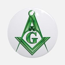 Masonic Shamrock Ornament (Round)