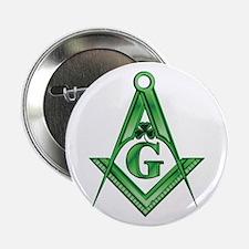 "Masonic Shamrock 2.25"" Button"