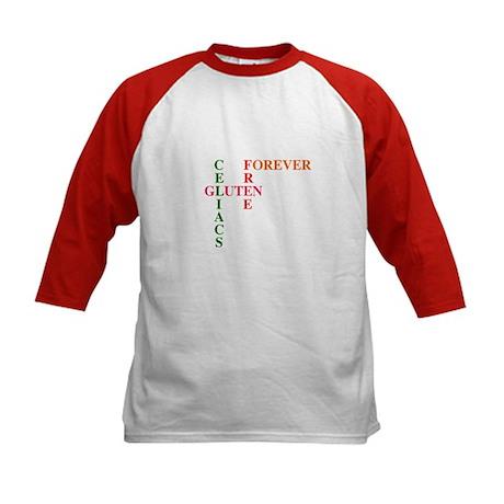 Celiacs Gluten Free Forever Kids Baseball Jersey