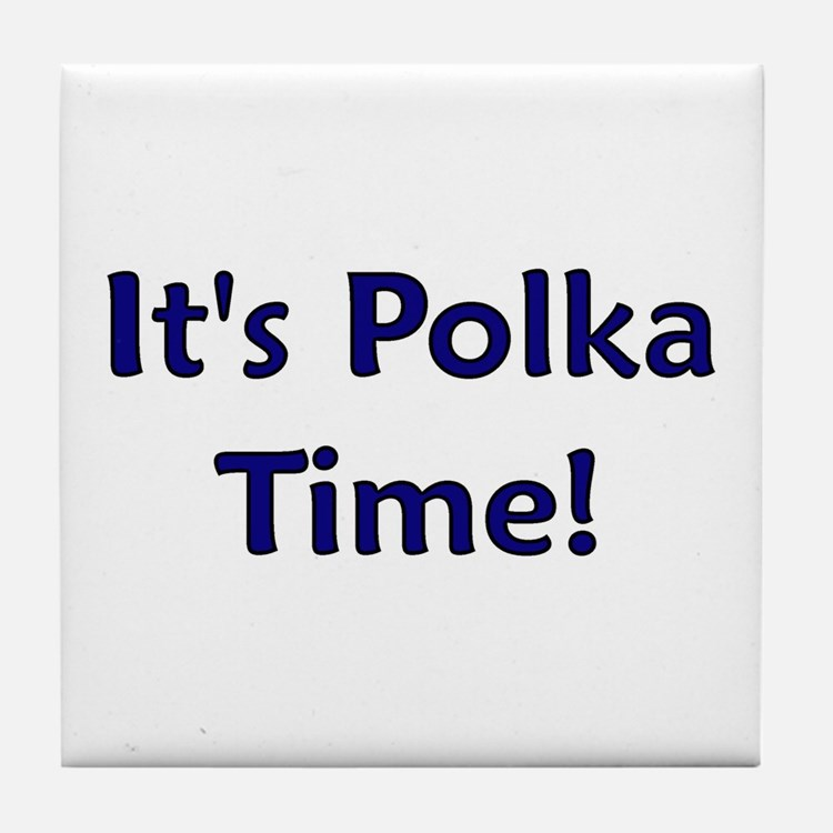It's Polka time! Tile Coaster
