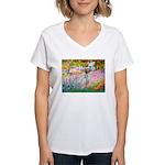 Garden / English Setter Women's V-Neck T-Shirt
