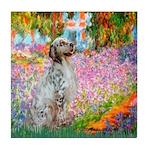 Garden / English Setter Tile Coaster