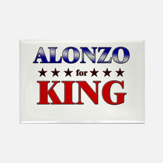 ALONZO for king Rectangle Magnet