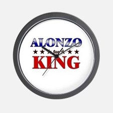 ALONZO for king Wall Clock