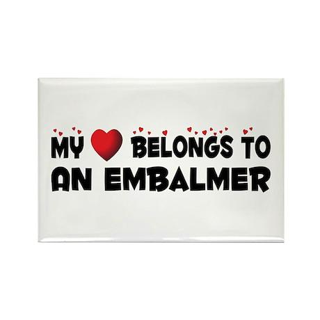 Belongs To An Embalmer Rectangle Magnet (10 pack)