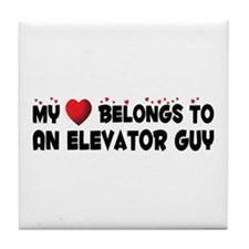 Belongs To An Elevator Guy Tile Coaster