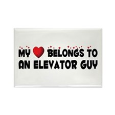 Belongs To An Elevator Guy Rectangle Magnet