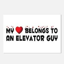 Belongs To An Elevator Guy Postcards (Package of 8