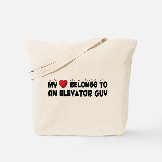 Belongs To An Elevator Guy Tote Bag