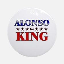 ALONSO for king Ornament (Round)