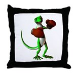 Gecko Boxer Throw Pillow