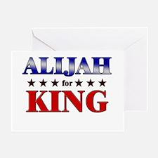 ALIJAH for king Greeting Card