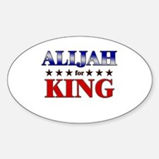 ALIJAH for king Oval Decal