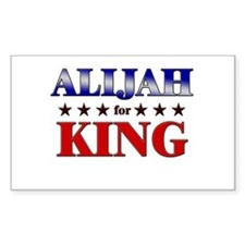 ALIJAH for king Rectangle Decal