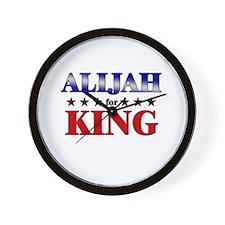 ALIJAH for king Wall Clock