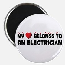 Belongs To An Electrician Magnet