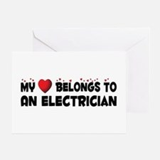 Belongs To An Electrician Greeting Card
