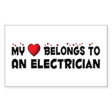 Belongs To An Electrician Rectangle Decal