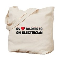 Belongs To An Electrician Tote Bag
