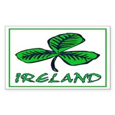 ...Ireland Shamrock... Rectangle Decal