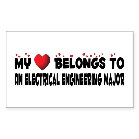 Belongs To An Electrical Engineering Major Sticker