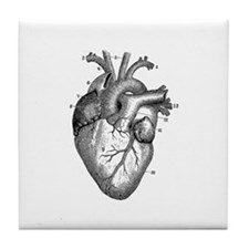 Vintage Heart 2 Tile Coaster