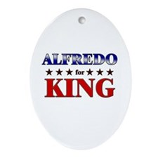 ALFREDO for king Oval Ornament