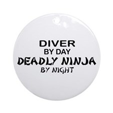 Diver Deadly Ninja Ornament (Round)